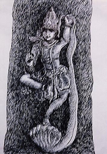 Pen and Ink: Krishna