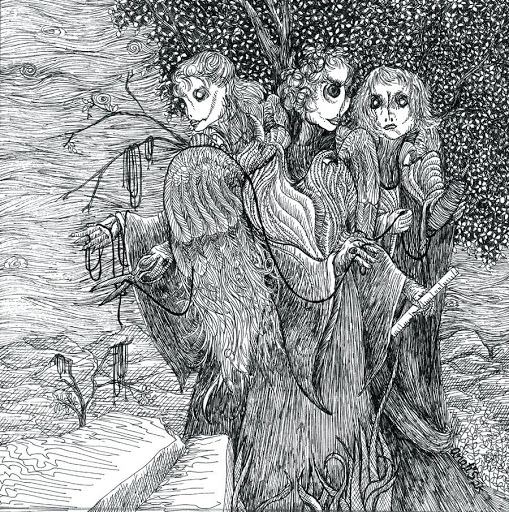 Pen and Ink: The Three Fates