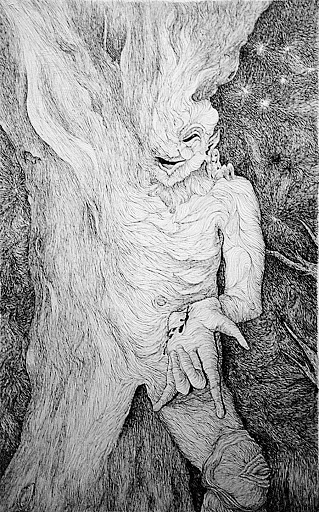 Pen and Ink: Lefeblood, the Tree in my World