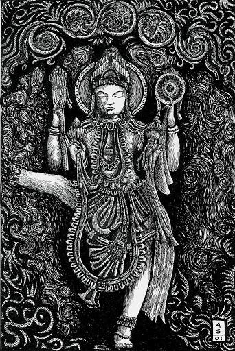 Pen and Ink: Vishnu