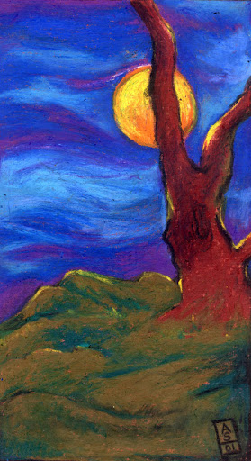 Oil Pastels: The Tree