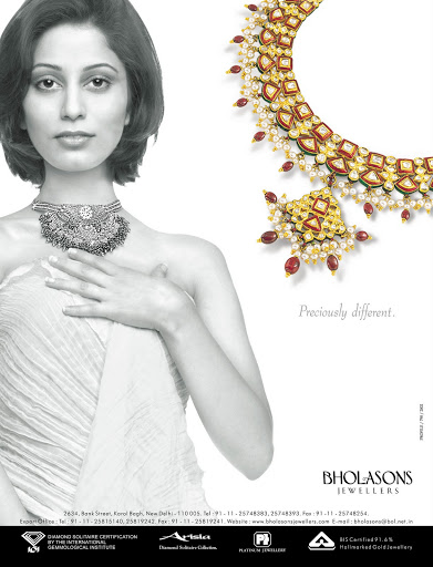 Advertisement: Bholasons Jewellers 2002, for Magazines