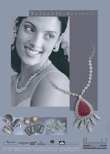 Advertisement: Hazoorilal Jewellers 2002, for Magazines