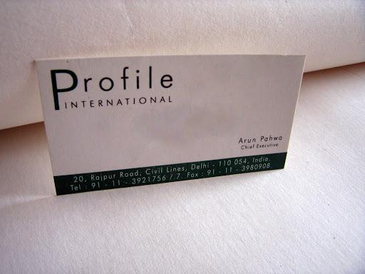 Visiting Card: Profile International