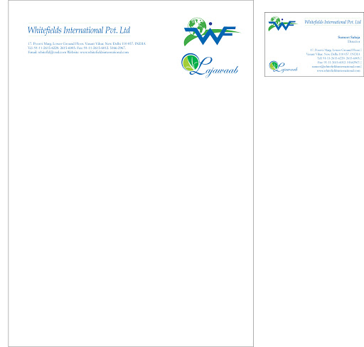 Logo: Whitefields International and Lajawaab