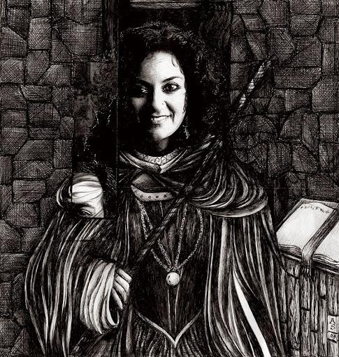 Pen and Ink: Portrait of Sonia Kullar