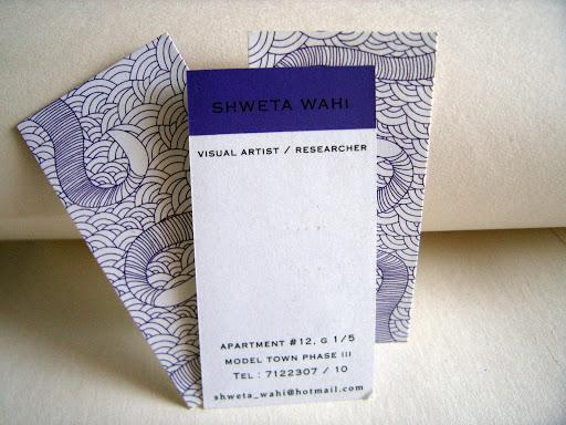Visiting Card: Shweta Wahi