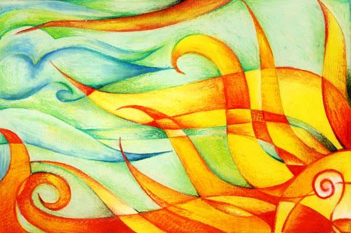 Oil Pastels: The Sun