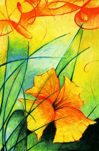Oil Pastels: Flower