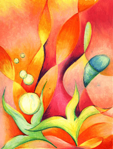 Oil Pastels: Pinks and Oranges