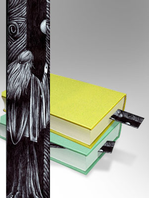 Pen and Ink: A Bookmark for Ira