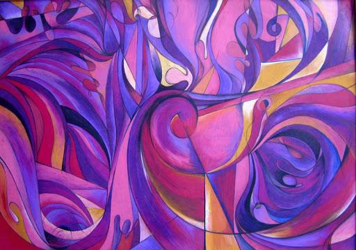 Oil Pastels: The Purples