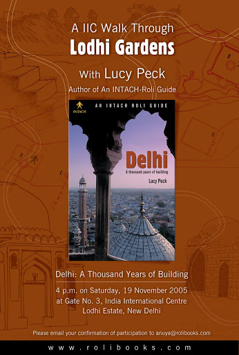 Collateral: Poster for The Intach-Roli Guide to Delhi