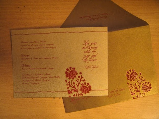 Wedding Card: Divya and Dhiraj