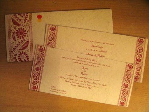 Wedding Card: Rohini & Arjun