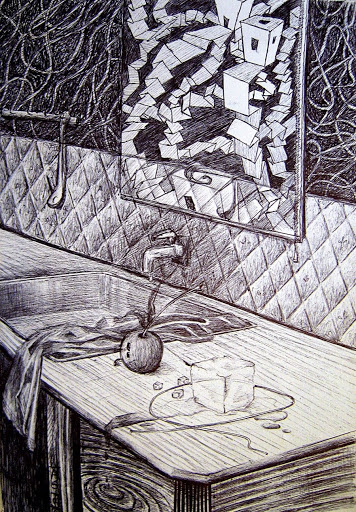 Pen and Ink: The Kitchen