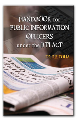 Book Cover: Handbook for Public Information Officers Under the RTI Act