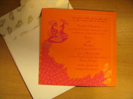 Wedding Card: Yamini & Shantanu