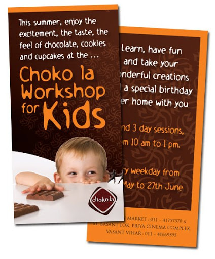 Collateral: Choko La Kids Workshop Poster, Leaflet
