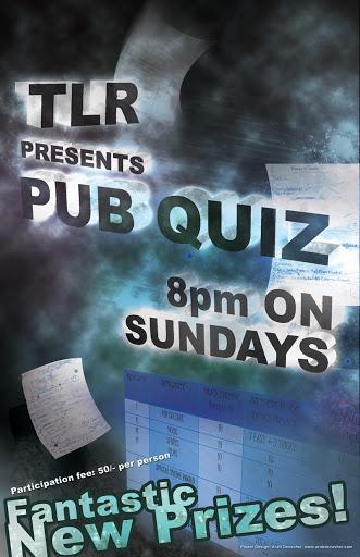 Poster: TLR Pub Quiz