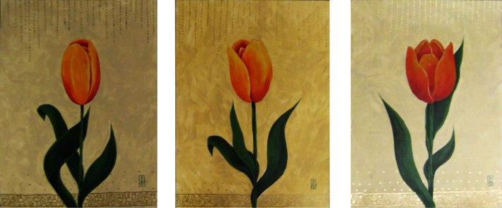 2012 - Arati Devasher - Tulips Triptych